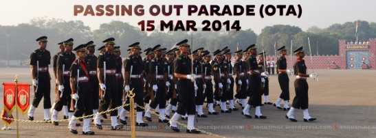 Contingent marching smartly in front of saluting dais