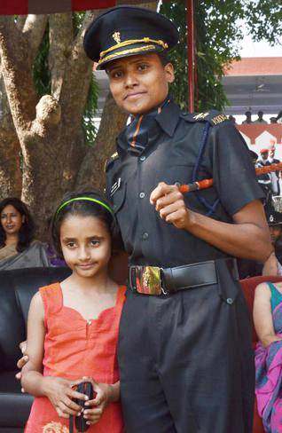 Lt Priya Semwal with her Daughter - A true soldier's wife.