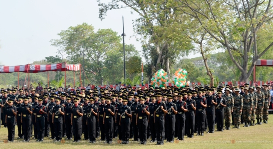 Newly commissioned officers taking oath