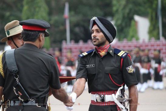 ACA Maninder Pal Singh receives regards for getting Sword of Honour.