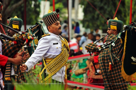 Music being played during piping ceremony.