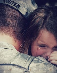 Unconditional Love of A child for her Soldier Father!