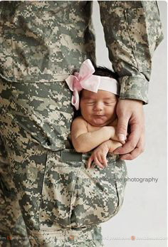 Army kid: Cute New born baby girl!